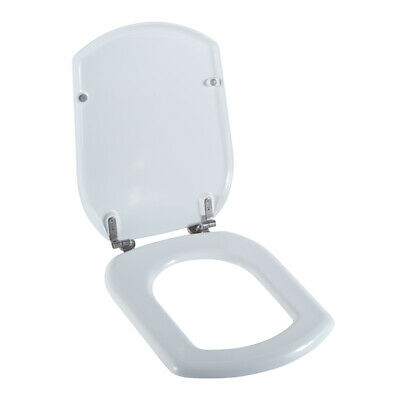 Luxury Durable Niobe Sigma White Round TOILET Pan Seat Cover FITTINGS INCLUDED