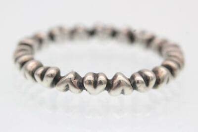 a0863f778 Pandora (190837) Sterling Silver, Size 7/54 Forever Love Heart Stacking Ring