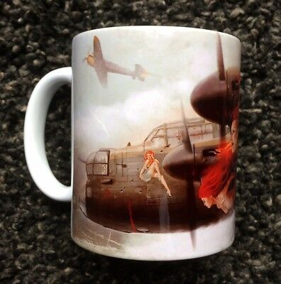 PERSONALISED AVRO LANCASTER BOMBER TRIBUTE MUG - GIFT CUP - RAF - Aircraft - WW2