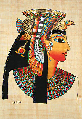 "Egyptian Papyrus - Hand Made - 9"" x 13"" - Ancient Art Form- Queen Cleopatra"