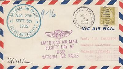 1932, National Air Races, Cleveland, OH, Signed by Pilot, See Remark (23649)