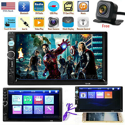 7 Inch 1080P DOUBLE 2DIN Car MP5 Player BT Tou+ch Screen Stereo Radio HD Camera