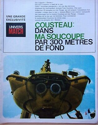 coupures de presse/LE COMMANDANT COUSTEAU 16 pages/en 1963 ref. 66745