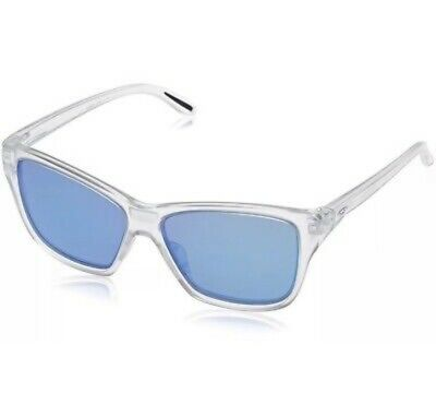 26b6fd7139a11 New Oakley Hold On Women s Sunglasses Matte Clear Frame With Sapphire  Iridium