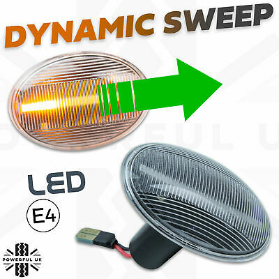 LED DYNAMIC Audi style sweep side indicator repeater flasher fits BMW Mini 06 on