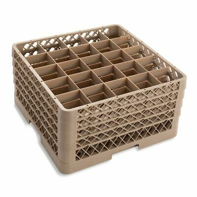 Traex TR6BBBB Beige 25 Compartment Glass Rack with 4 Extenders