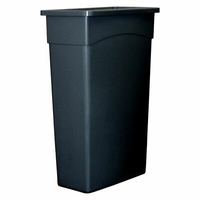 Continental 8322BK Wall Hugger 23 Gal. Black Container