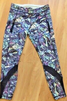 LULULEMON Inspire Tight II Full-On Luxtreme Iridescent Multi / Naval Blue size 8