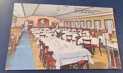 Old Postcard<CHARLESTOWN, MASSACHUSETTS>{THE LOBSTER HOUSE--DINING ROOM}
