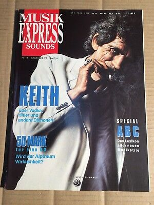 Musik Express  - 11 / 1992 - Keith Richards / Peter Maffay / Neneh Cherry(Dz151)