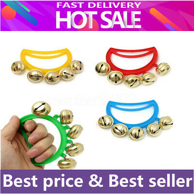 Baby Kids Hand Shaking Bells Musical Rattle Handbell Educational Toy