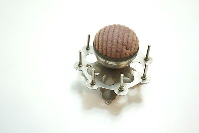 Vintage Sewing Thread Caddy Holder Metal Stand With Pincushion