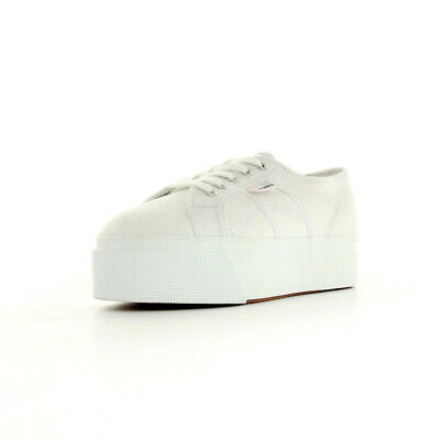 la moitié 1f414 d15f4 CHAUSSURES BASKETS SUPERGA femme 2790 Acotw Linea Up and Down taille Blanc