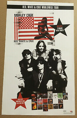 MOTLEY CRUE Rare 2005 PROMO POSTER For Red CD 11x18 USA Tommy Lee Nikki Sixx