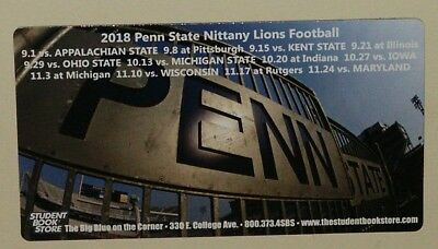 Penn State Nittany Lions 2018 Football Schedule Magnet