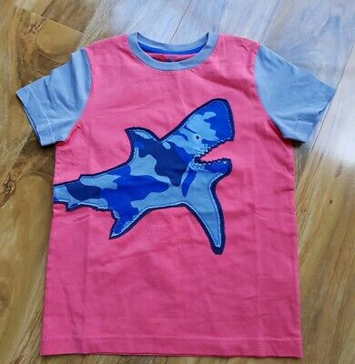 Mini Boden Boys cotton short sleeve Applique Top Size 6-7 Years Brand new
