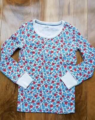 Mini Boden Girls Fabulous floral cotton Pyjama Top Size 6 years Brand new.