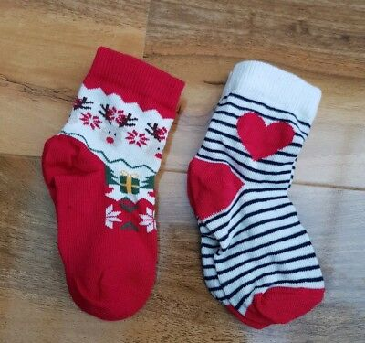 George GIRLS 2 Pairs Pack Christmas Socks BRAND NEW. BRAND NEW Size about 3-5.5