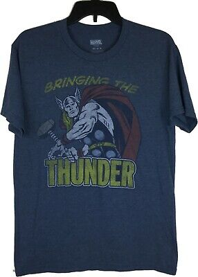Marvel The Avengers Thor's Hammer Bringing the Thunder Mens Shirt Size M Retro