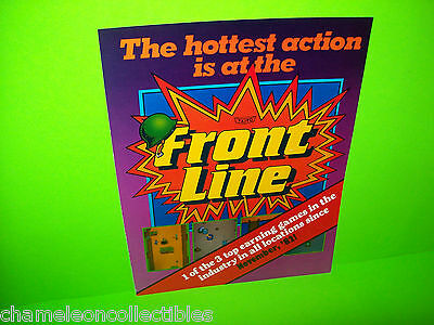FRONT LINE By TAITO 1982 ORIGINAL NOS VIDEO ARCADE GAME SALES FLYER Version 2