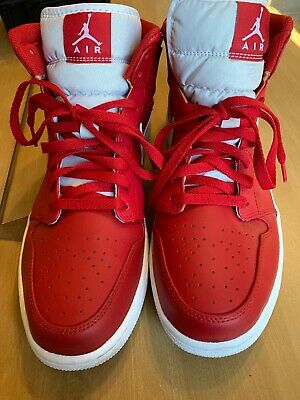 845022533170f7 Nike Air Jordan 1 Mid Chicago Gym Red White Black 554724 600 Men s Size 12