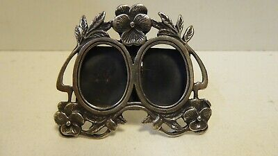 Sterling Silver 925 Double Picture Frame Miniature Dressing Table Nouveau Style