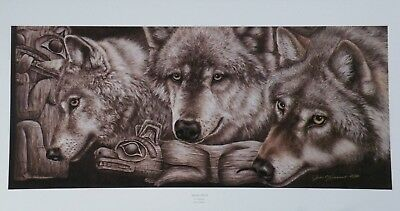 The Challenge by Judi Rideout Moose Wildlife LE SN Fine Art Lithograph