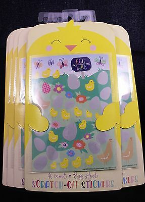 Scratch Off Easter Stickers 46 Each Sheet (Pack of 10 Sheets)