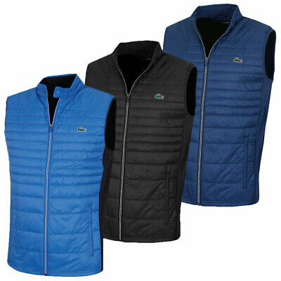 6bb649abd327 LACOSTE MENS BH9536 Quilted Technical Water Resistant Ripstop Golf Vest -  EUR 151