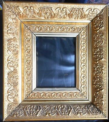 Exquisite Small Antique Gilded Victorian Picture Frame