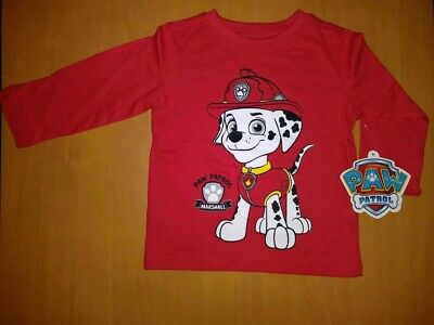 Nickelodeon Paw Patrol Marshal  Toddler Red Long-Sleeve Shirt. NEW! Size 2T