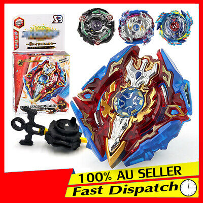 Fusion Fight Master Launcher Grip Rapidity Set Top With 4D Rare Beyblade Metal