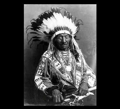 Chief Red Cloud Holding Peace Pipe PHOTO Portrait Oglala Lakota Indian