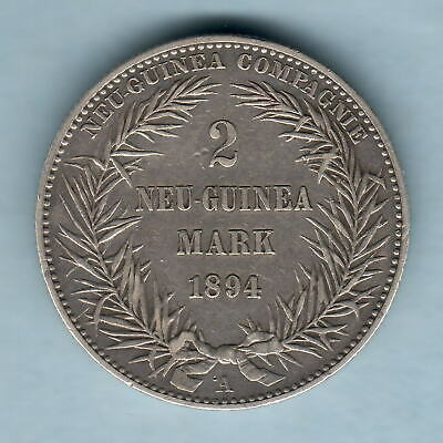 German New Guinea. 1894-A 2 Mark..  VF - Trace Lustre