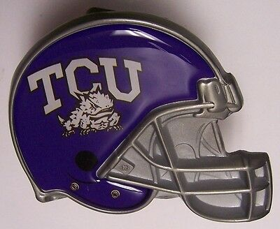 premium selection 7b5d9 b6d2e Trailer Hitch Cover NCAA Texas Christian Horned Frogs NEW Metal Football  Helmet