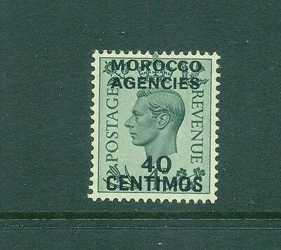 Morocco Agencies Spanish Currency 1937 KGVI 40c on 4d MLH SG169