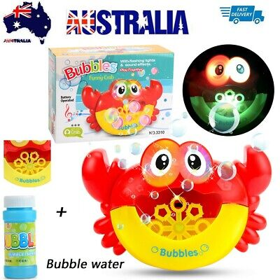 Cartoon Crab Automatic Bubble Maker Machine Toy Blowing Soap Bubbles for Kids