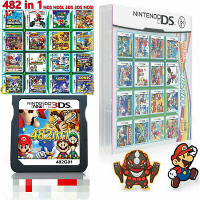208/482 in 1 Video Game Cartridge Multigame For DS NDS NDSL NDSi 2DS 3DS XLSuper