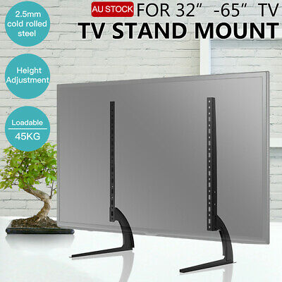 "Universal Desk Table Top TV Wall Bracket Mount Flat Plasma LCD LED 32 - 65"" inch"