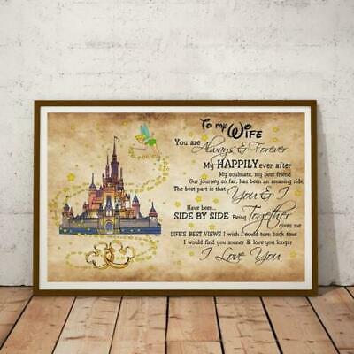 Castle Tinkerbell To My Wife I Love You Landscape Paper No Framed Poster