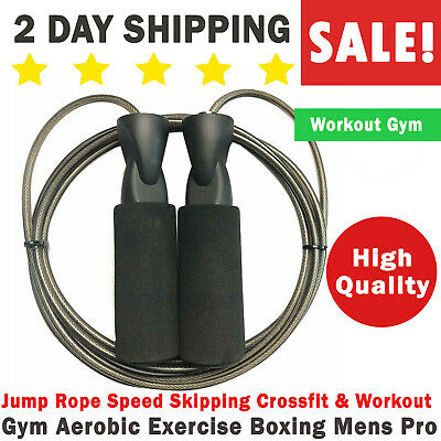 Jump Rope Speed Skipping Crossfit & Workout Gym Aerobic Exercise Boxing Mens Pro
