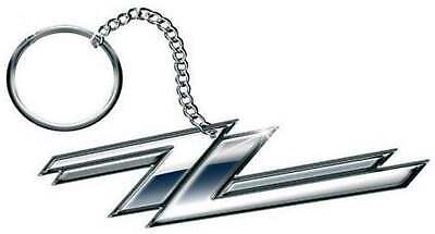 ZZ Top Keyring Keychain Twin Z's band logo  new Official metal Size One Size
