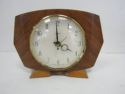 Smiths wooden mantle battery clock for repairs - WEL P18