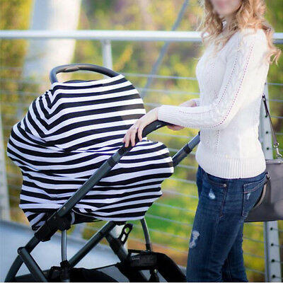 Multi-Use Stretchy Pram Car Seat Baby Blanket Cover Cosytoes Suckle Cover Cloth