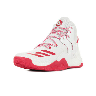 Chaussures adidas homme D Rose 7 Basketball taille Blanc Blanche Textile Lacets
