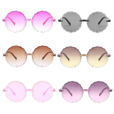 Sun Glasses Round Flower Gafas Baby Tint Clear Lens Children Colorful Sunglasses