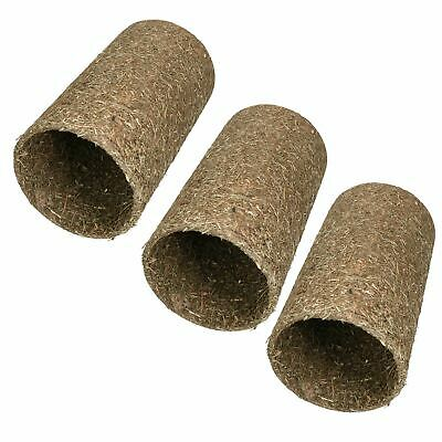 Small Pet Guinea Pig Naturals Treat Hay 'n' Hide Meadow Tunnel15x15x25cm 3pk