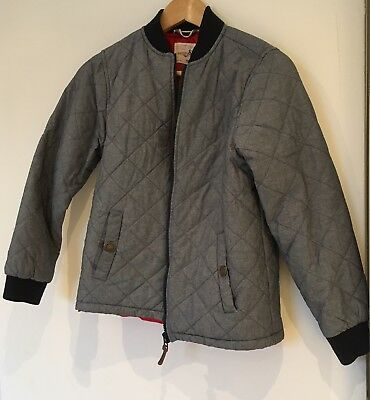 Girls Blue Padded Jacket With Red Lining Age 12 <SW593