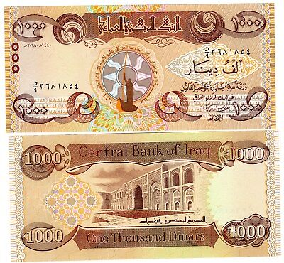 IRAQ Irak Billet 1000 Dinars 2018 COMMEMORATIVE NOUVEAU NEW NEUF UNC