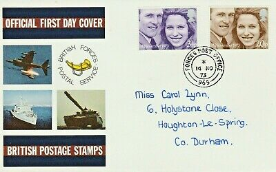 1973 WEDDING Stamps BRITISH FORCES First Day Cover FPO 965 Postmark REF:C148